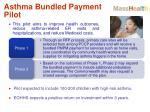 asthma bundled payment pilot