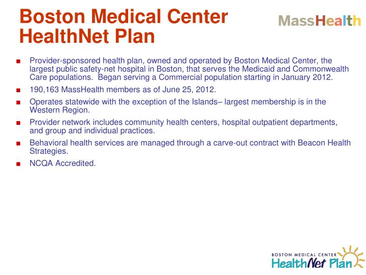 Boston Medical Center HealthNet Plan