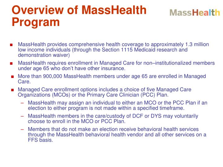 Overview of MassHealth Program