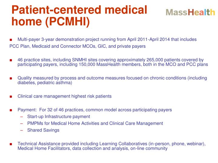 Patient-centered medical home (PCMHI)