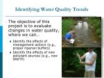 identifying water quality trends