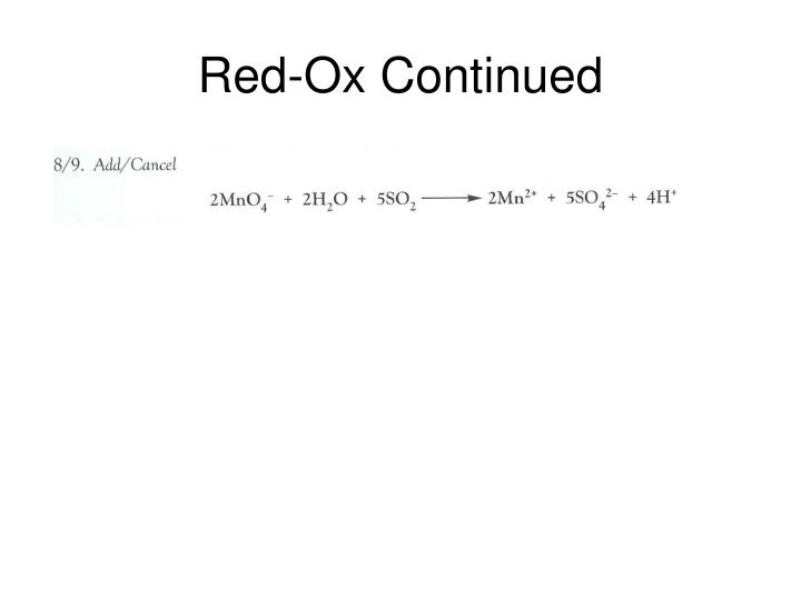 Red ox continued