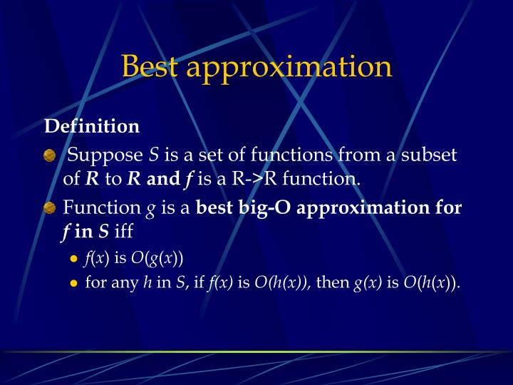 Best approximation