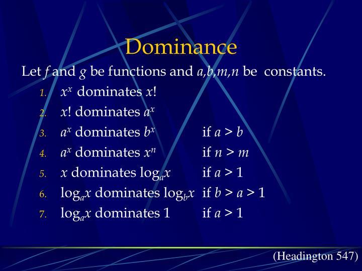 Dominance