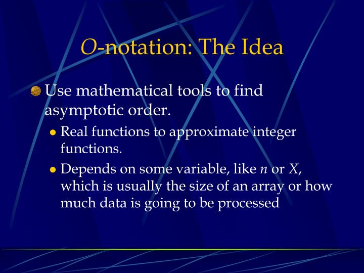 O notation the idea1