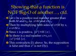 showing that a function is not big o of another ctd