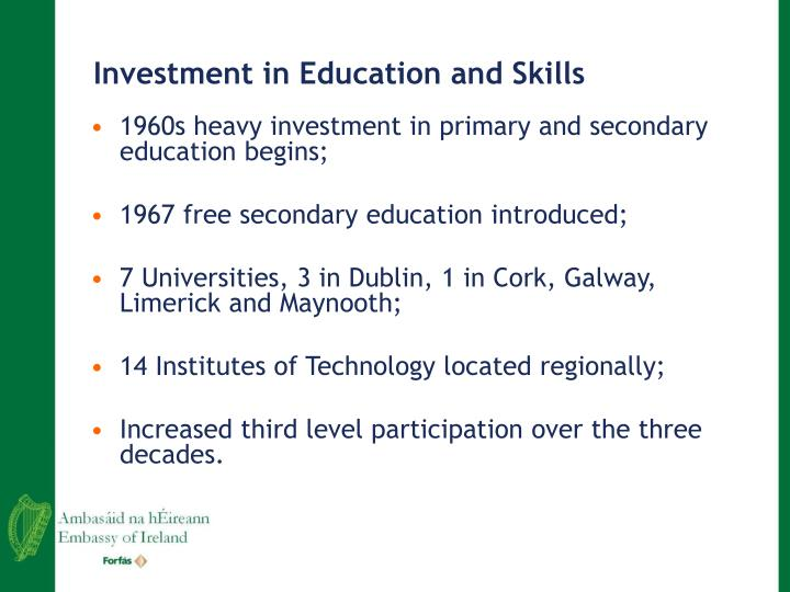 Investment in Education and Skills