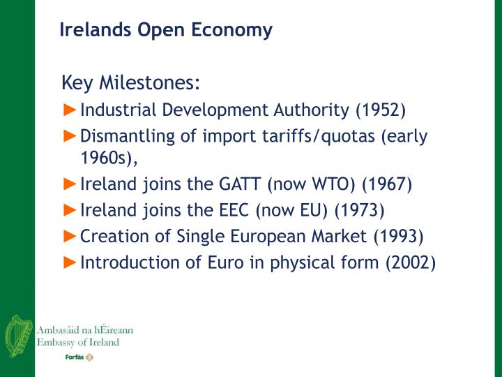 Irelands Open Economy
