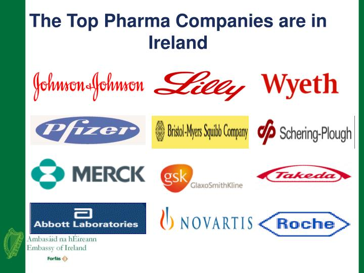 The Top Pharma Companies are in Ireland