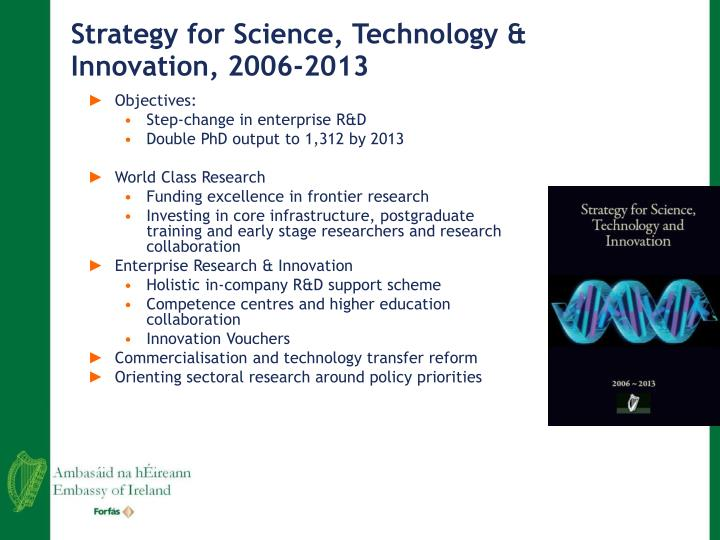 Strategy for Science, Technology & Innovation, 2006-2013