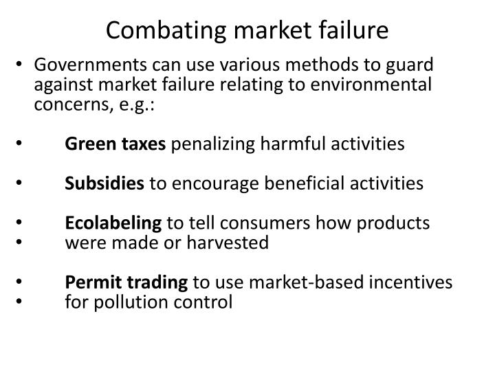 Combating market failure