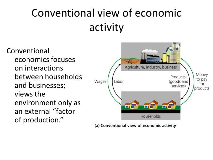 Conventional view of economic activity
