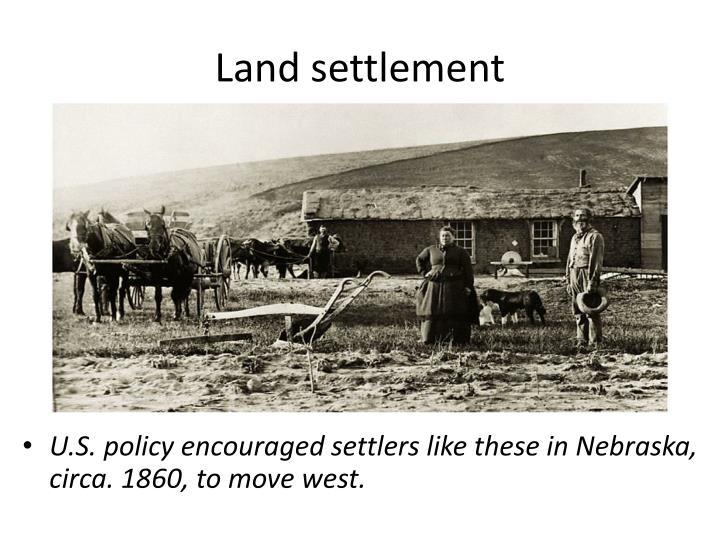 Land settlement