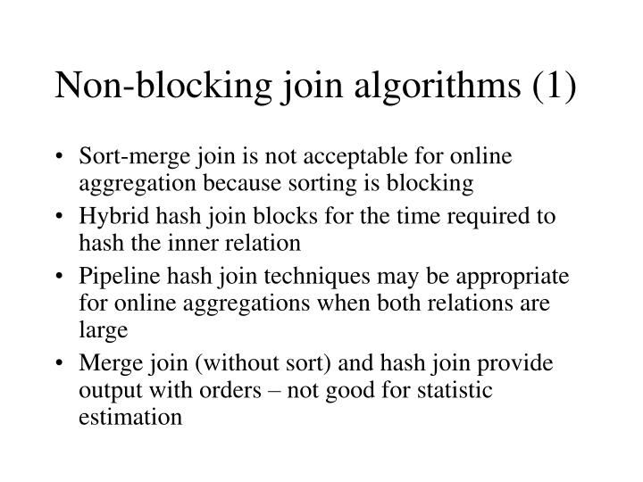Non-blocking join algorithms (1)