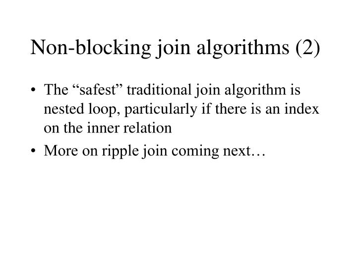 Non-blocking join algorithms (2)