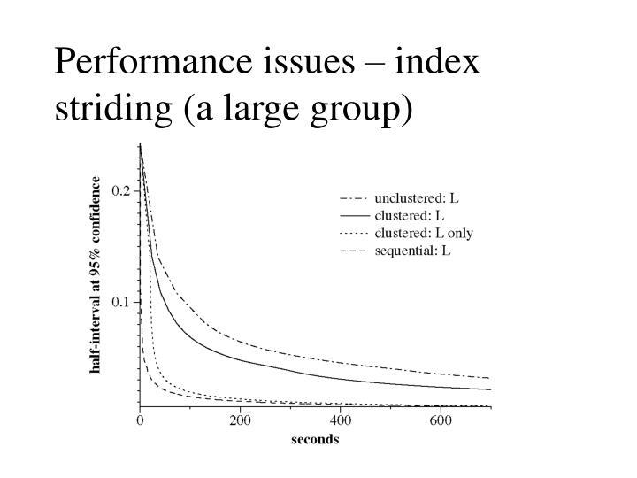 Performance issues – index striding (a large group)