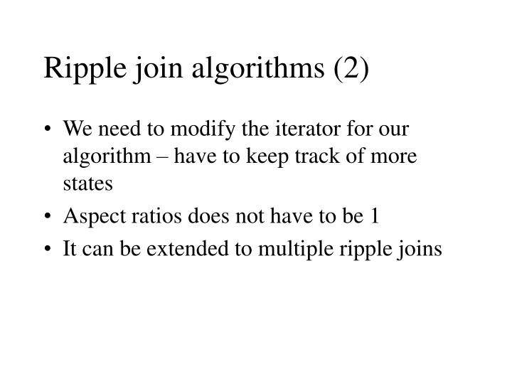Ripple join algorithms (2)