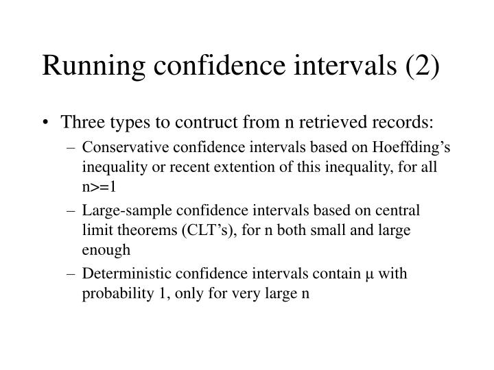 Running confidence intervals (2)