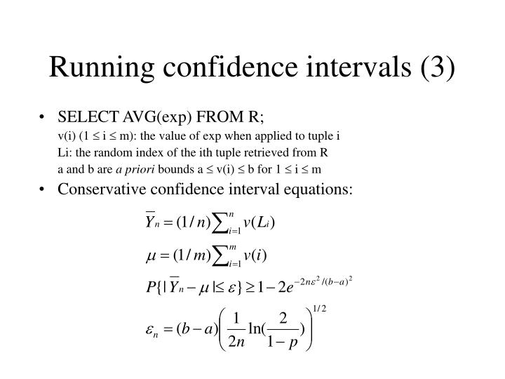 Running confidence intervals (3)