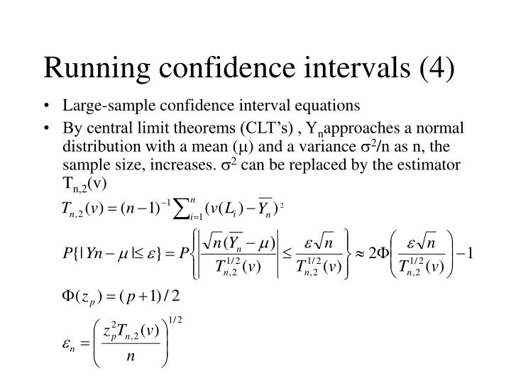 Running confidence intervals (4)