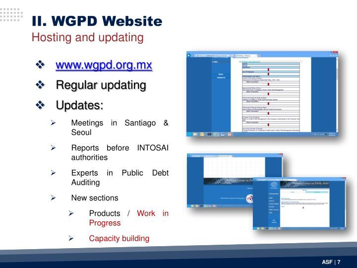 II. WGPD Website