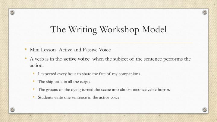 The Writing Workshop Model