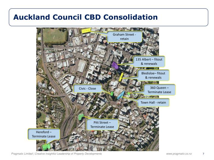 Auckland Council CBD Consolidation