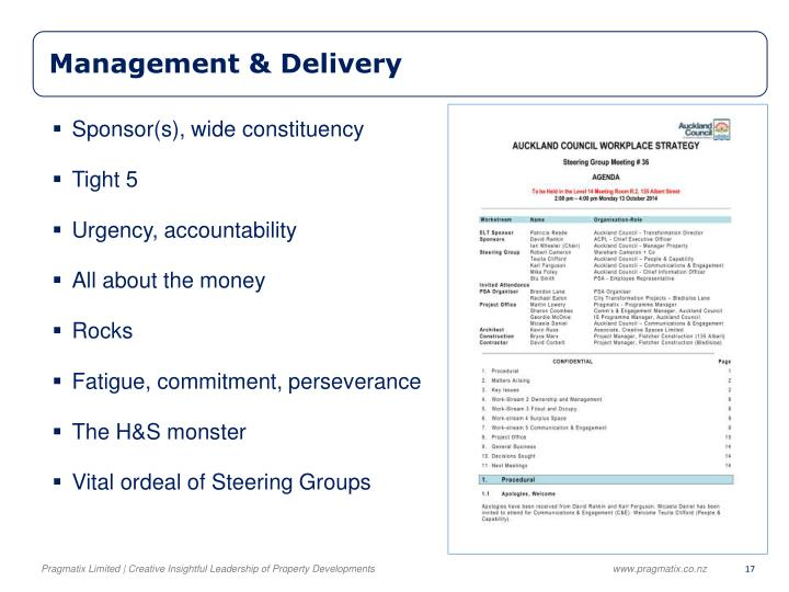 Management & Delivery