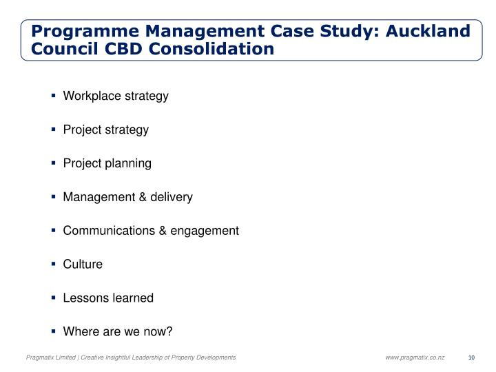 Programme Management Case Study: Auckland Council
