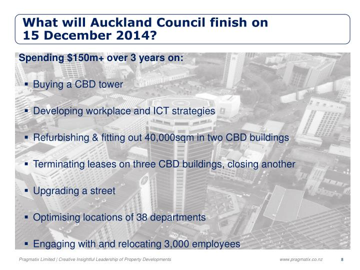 What will Auckland Council finish on