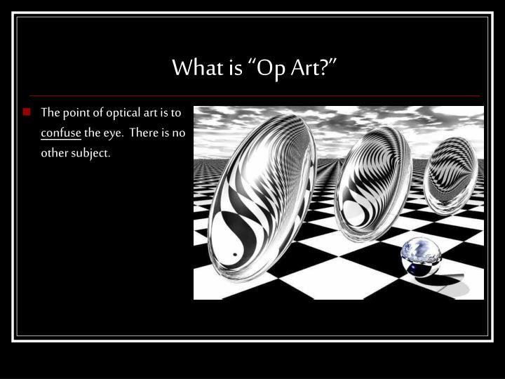"""What is """"Op Art?"""""""