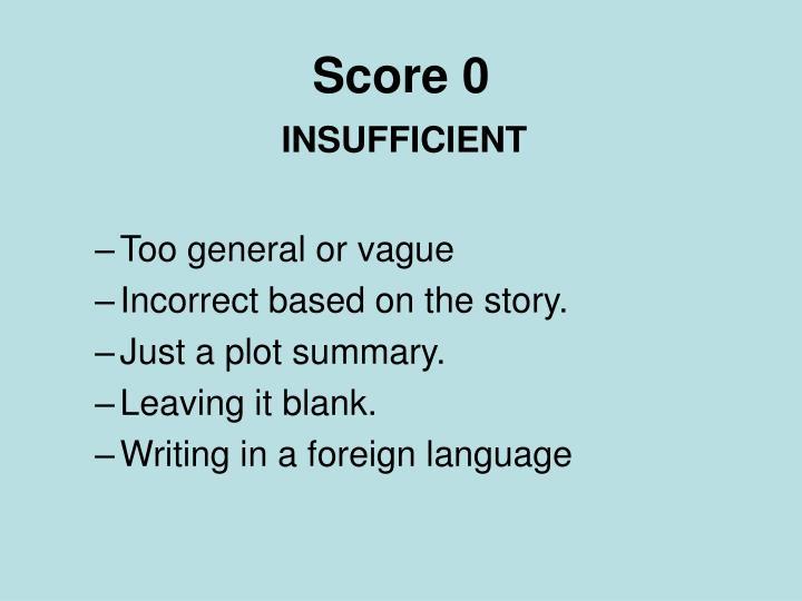 Score 0