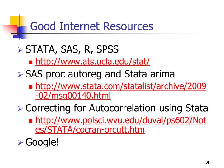 Good Internet Resources