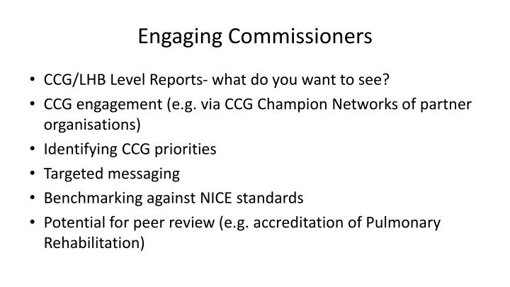 Engaging Commissioners