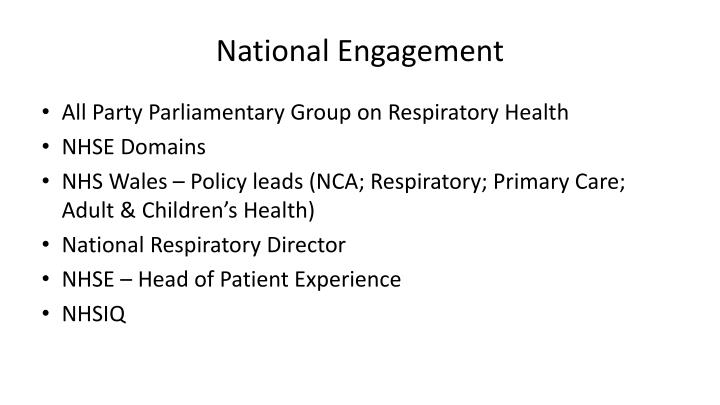 National Engagement