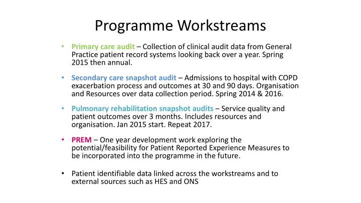 Programme Workstreams