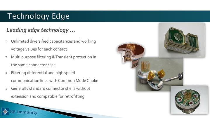 Leading edge technology …