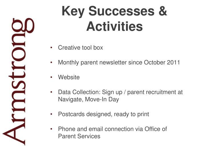 Key Successes & Activities