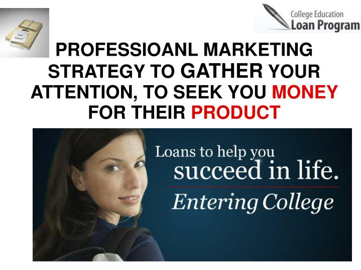 PROFESSIOANL MARKETING STRATEGY TO
