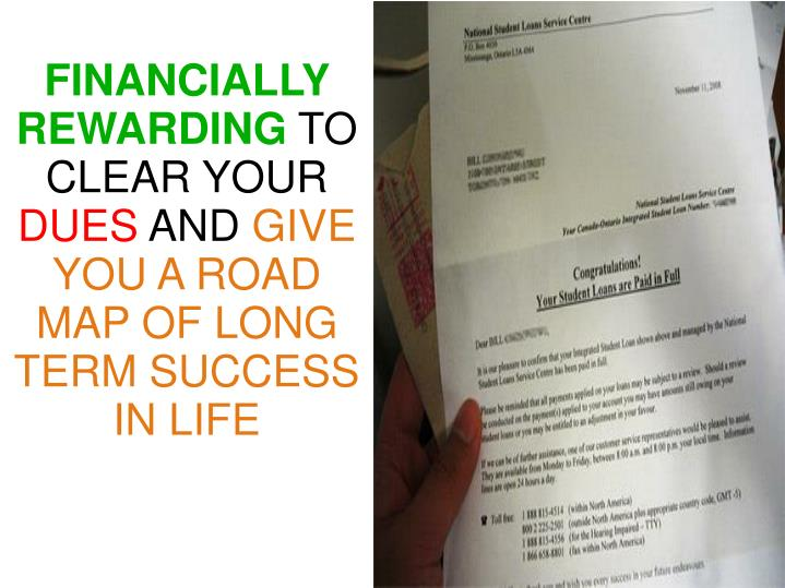 FINANCIALLY REWARDING
