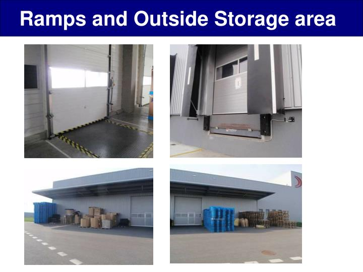 Ramps and Outside Storage area