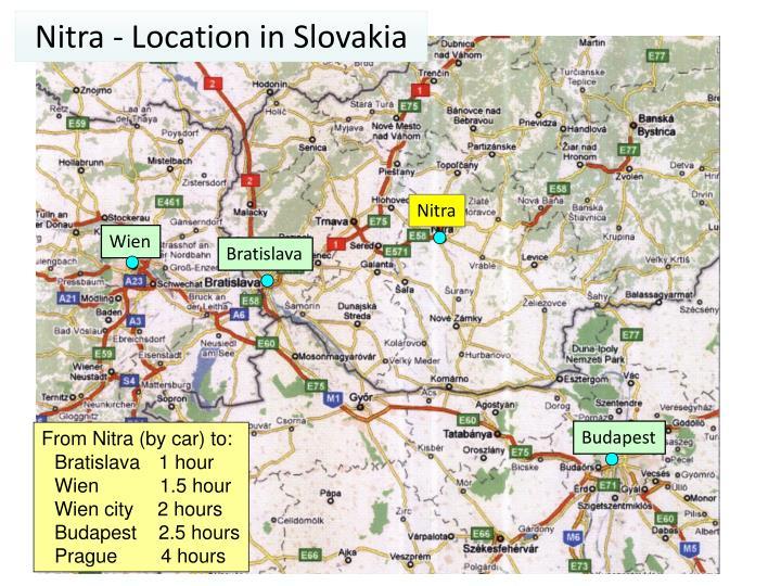 Nitra - Location in Slovakia