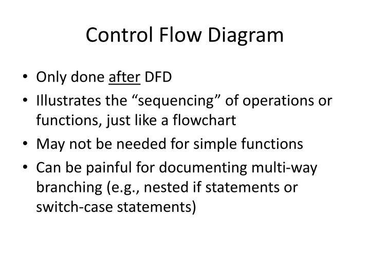 Control Flow Diagram