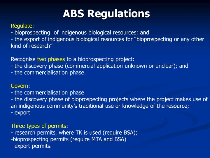 ABS Regulations