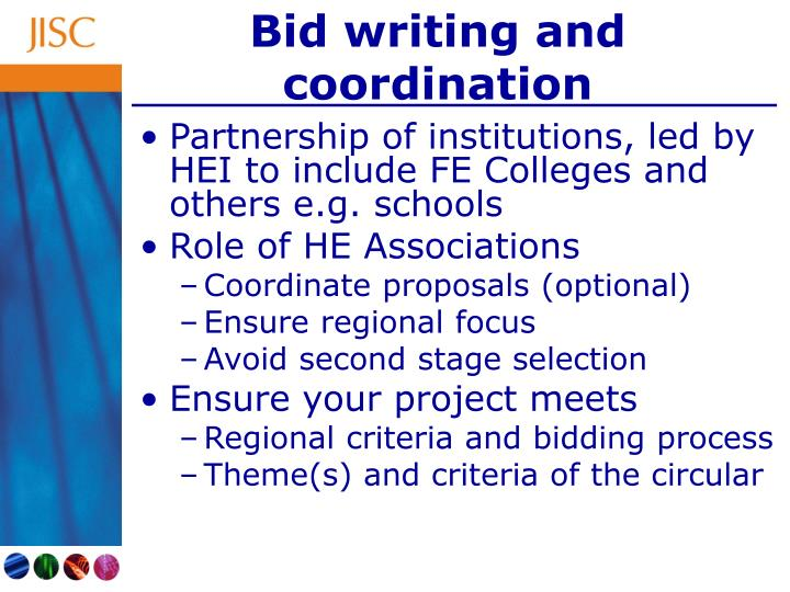 Bid writing and coordination