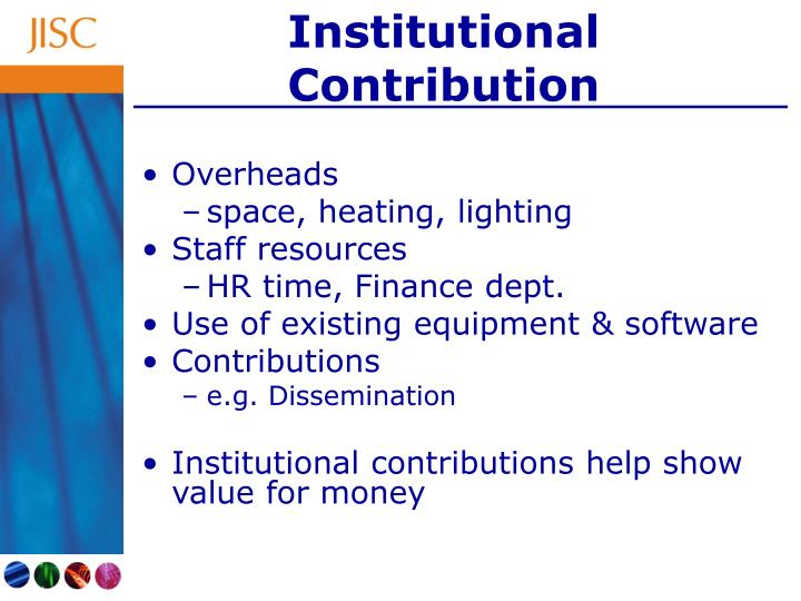 Institutional Contribution
