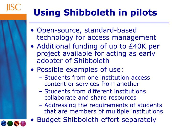 Using Shibboleth in pilots