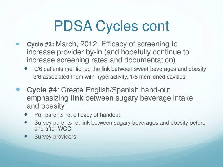 PDSA Cycles cont
