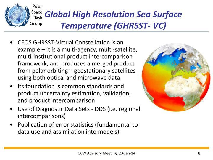 Global High Resolution Sea Surface Temperature (GHRSST- VC)