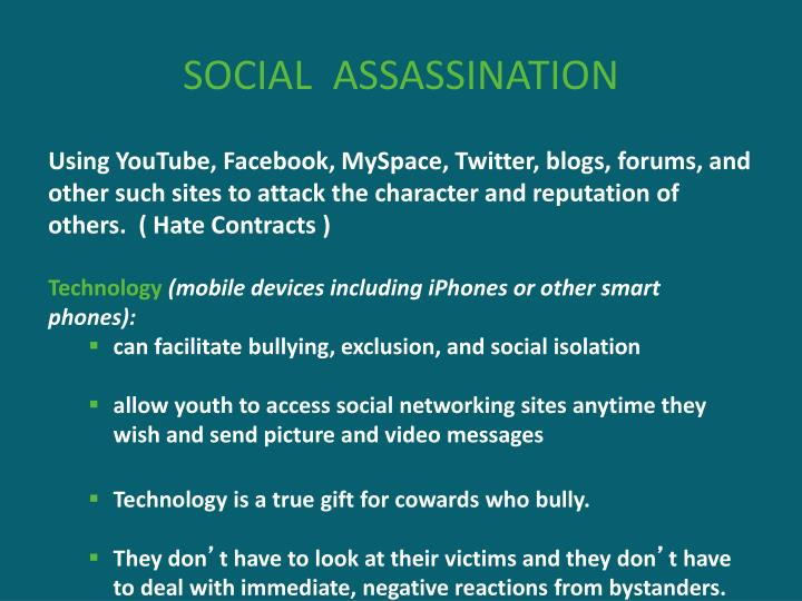 SOCIAL  ASSASSINATION